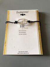 Footnotes Silver Plated He Is Love Adjustable Bracelet