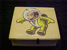 Curious George Astronaut  Rubber Wood Mounted Stamp  all Night Media Stamp
