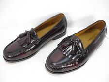 COLE HAAN C02692 BURGUNDY LEATHER KILTIE TASSEL LOAFERS DRESS SHOES MEN 10.5 3E