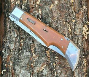 RARE Great Vintage Knife USSR Folding Pocket Handmade Prison Art