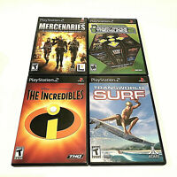 Lot of 4 Sony PlayStation 2 (PS2) Video Games Complete and Black Label