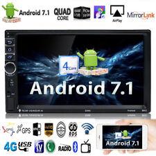"7"" 2DIN Quad-Core 1080P HD Android 7.1 3G WIFI Car Auto GPS FM Radio MP5 Player"