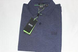 Hugo Boss Men's Athleisure Blue Heather Pima Cotton Polo Shirt NWT Size Small