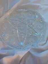 "EAPC 11"" Cake Plate Platter Anchor Hocking Early American Prescut Star of David"