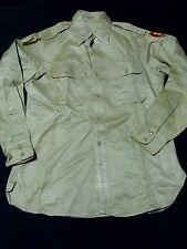 Crisp 1951 Staff Sergeant Shirt Jacket Tropic Lightning 25th Infantry Khaki 15.5