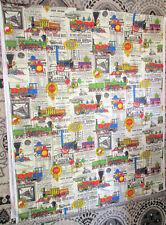 New listing House 'N Home Fabric & Draperies Inc/Train Fabric/Great Northern Railway 92x112