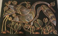 Eddie Blitner, Brolga Spirits , Aboriginal Art, 110x70cm - Original w/ COA