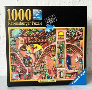 Ravensburger Ludicrous Library Colin Thompson 1000 Piece Puzzle - Complete