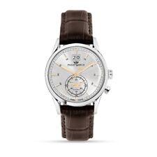 Orologio Philip Watch Sunray R8251180009 uomo pelle Marrone watch dual time new