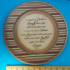 A FAMILY IS A CIRCLE OF STRENGTH AND LOVE PLAQUE PLATE HOME DECOR