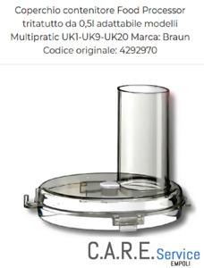 BRAUN COPERCHIO CONTENITORE MULTIPRATIC UK1 UK9  UK11 UK20 - UK21 - UK250