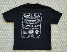 Guns N Roses COACHELLA Black Concert 2 sided T Shirt Mens Size XL DAMAGED holes