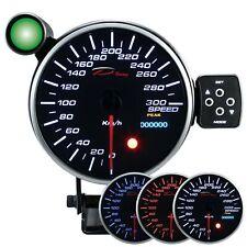 D Racing 115mm Geschwindigkeit Anzeige Instrument speedometer gauge warning