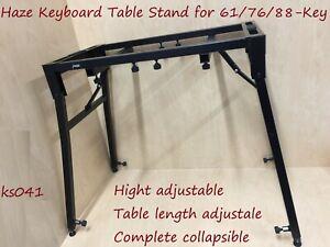Haze Keyboard Table Stand-61-Key,76-Key,88-Key.Adjustable & Collapsible.BK.KS041
