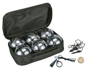 Boule Set Boccia Turnier Petanque Tasche Bouleset 6 Kugeln Metallkugeln