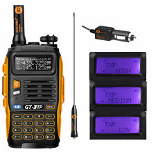 Baofeng GT-3TP MarkIII 136-174/400-520MHz Tri-Power 8W Two-Way Radio + Speaker