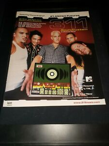 311 Soundsystem Rare Original Radio Promo Poster Ad Framed!