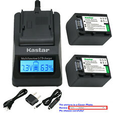 Kastar Battery LCD Fast Charger for Sony NP-FH100 NP-FH70 NP-FH90 BC-TRH BC-VH1