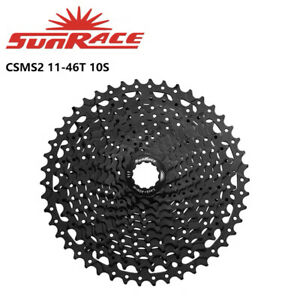 SunRace CSMS2 11-46T Black 10 Speed Wide Ratio Bike Bicycle Mtb Cassettes