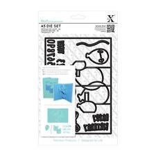 SALE Xcut (Docrafts) Universal A5 Die Set (17pcs) - Pop Up Card Birthday
