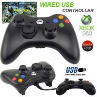 PC Game Controller For XBox 360 USB Wired Gamepad Joypad with Shoulders Buttons