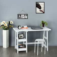 Computer Desk Home Office Study Work Station With 2 Book Shelf CD Storage Table