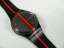 1991  Swatch  Watch  Standard 360º Rosso Sur Blackout  GZ119