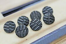 VICTORIAN BLACK GLASS BUTTONS - FOR VICTORIAN CLOTHING / COLLECTING
