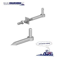 Gate Hinge Hook To Drive and Hook To Bolt 19mm Pins Galvanised Set Kit Birkdale