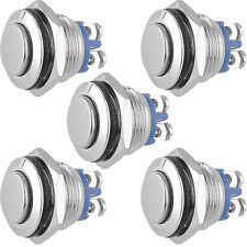5 X High Head 16mm Start Horn Momentary Stainless Steel Metal Push Button Switch