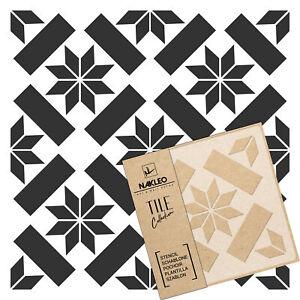 ERRADA Tile reusable PLASTIC Stencil // 10x10cm to 60x60cm // Modern Floor Wall