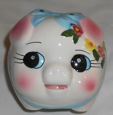BEAUTIFUL AND ADORABLE NEW CERAMIC PIGGY BANK WITH A BOW FROM STORE DISPLAY