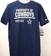 "Dallas Cowboys Nike ""Property Of"" NFL Short Sleeve Navy T-Shirt Adult XL Tee"