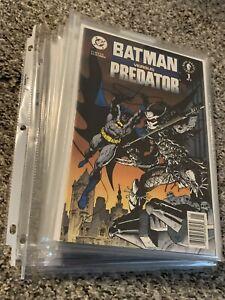LOT OF 11 BATMAN VS PREDATOR COMICS! DC/DARK HORSE COMICS NICE!