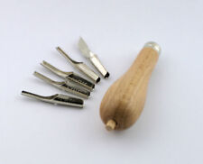 Linolschnitt Garnitur Linolschneide Werkzeug in Kunststoffschachtel Linolmesser