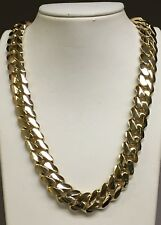 """Link 18"""" 15.5mm 280 grams chain/Necklace 14k Solid Yellow Gold Miami Cuban Curb"""