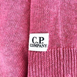 Men's C.P. COMPANY V-Neck Cardigan Long Sleeve Cotton Jumper Pullover Size - M