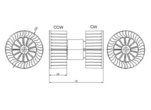 1992-1999 BMW 318i/323i/325i/328i  New Heater/AC Blower Motor