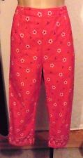 40s-60s Style Red Bandanna Print Clam Digger / Capri Pants by Real Comfort sz 6