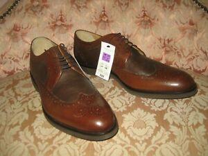 M&S Airflex Mens Smart Shoes Brown Leather UK Size 12 EU 47 - NEW