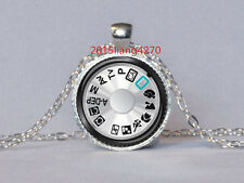 CAMERA DIAL PENDANT Photography Pendant Silver Black Teal Camera Necklace