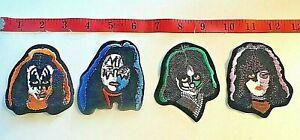 KISS set of 4 square solo album patches Paul Stanley, Gene, Peter, Ace  BX