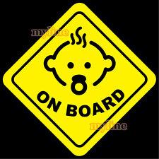 Baby on board v2 vinyl decal sticker yellow car rear window v2 yellow