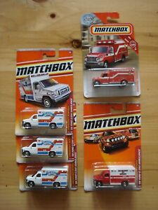 Matchbox Ambulance Lot 2010, 11 Ford  2019 International