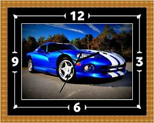 Dodge Viper SRT V10 Clock Gift Present Christmas Birthday (Can Be Personalised)