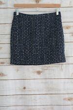 J.Crew - TEXTURED Navy blue TWEED wool blend mini skirt, size 0
