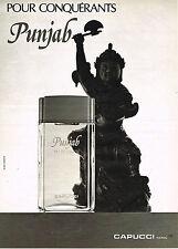 PUBLICITE ADVERTISING 025  1980  CAPUCCI   eau de toilette homme PUNJAB