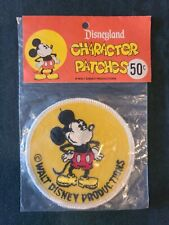 NEW Walt Disney Productions Mickey Mouse Patch, Disneyland Character Patches