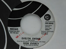 Don Everly 45 EVELYN SWING bw WARMIN' UP THE BAND   ODE VG++ MONO