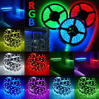 10M RGB Waterproof LED Strip Lights 5050 600 LEDs Remote 12V Adapter Light Kit